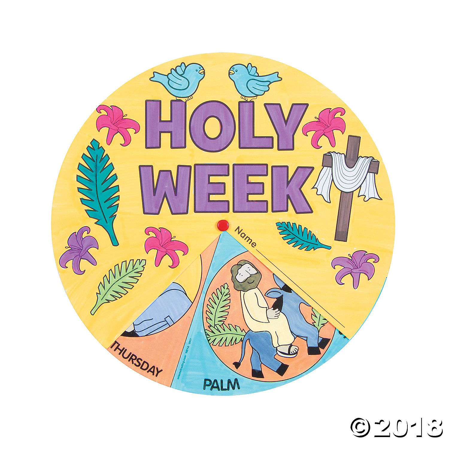 Color Your Own Holy Week Wheels | Holy week for kids, Christian ...