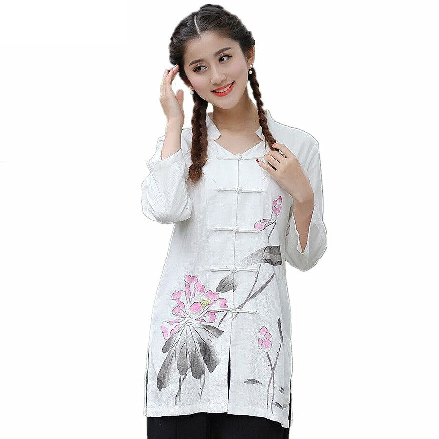 14d1578e5 New-Arrival-Women-s-Cotton-Linen-Shirt-top-Chinese-Classic-Style ...