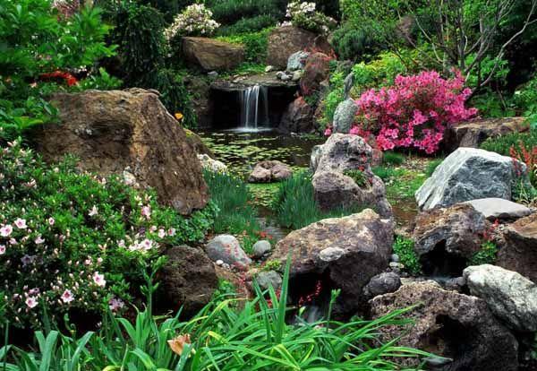 21 Garden Design Ideas, Small Ponds Turning Your Backyard ...