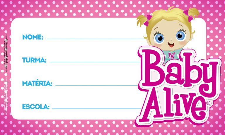 Aulas Baby Alive Etiqueta Escolar Con Imagenes Etiquetas
