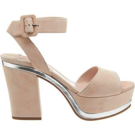 Miu Miu Metallic Trimmed Platform Sandal at Barneys.com