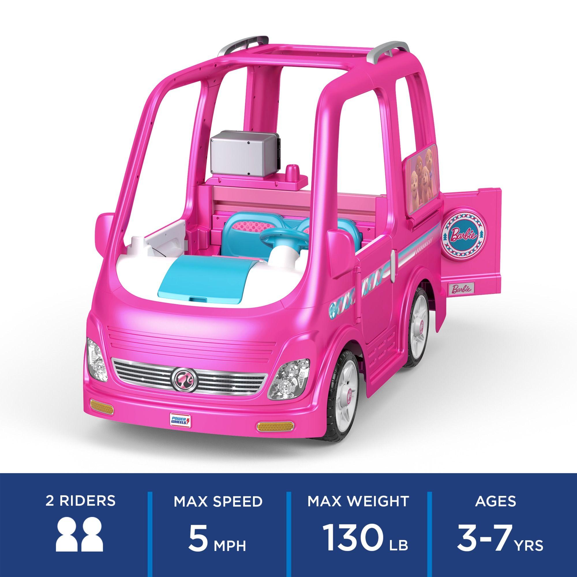 Power Wheels Barbie Dream Camper Battery Powered Ride On Vehicle Barbie Dream Power Barbie Dream Disney Princess Toys Princess Toys