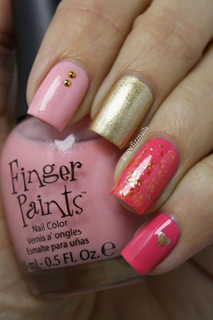 Valentines Day Mani - grape fizz nails