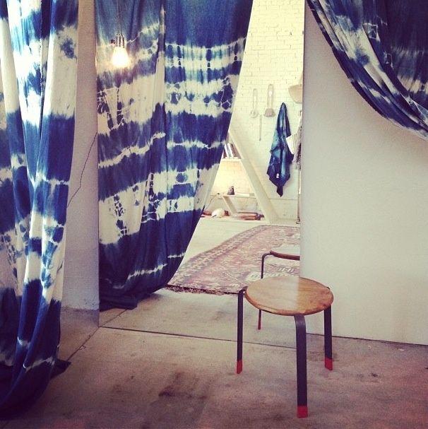 Shibori Tie Dye Ombre Bedroom Wallpaper Fabric Home Décor Design Bedding |  Froghill Designs Blog