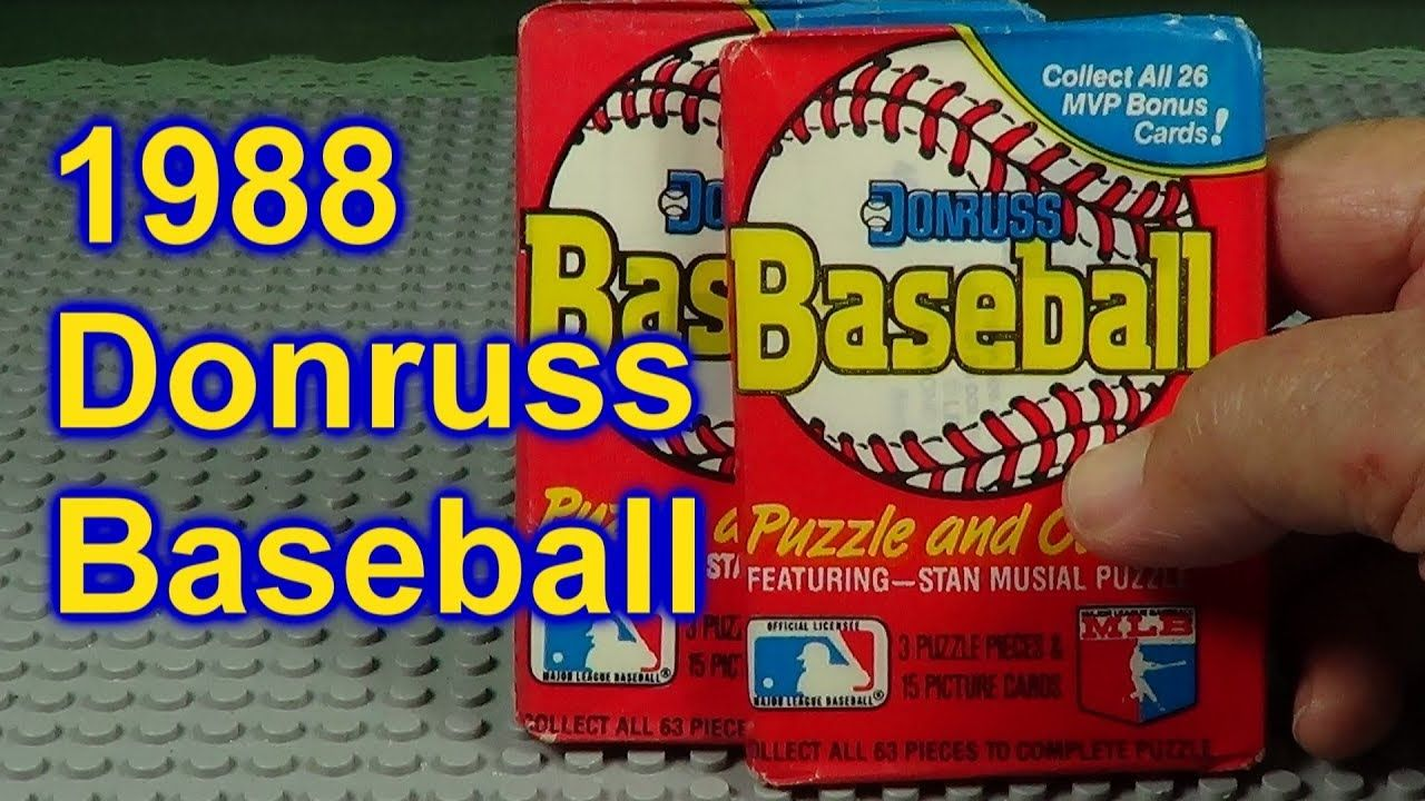 1988 donruss baseball cards opening 2 packs who did i get