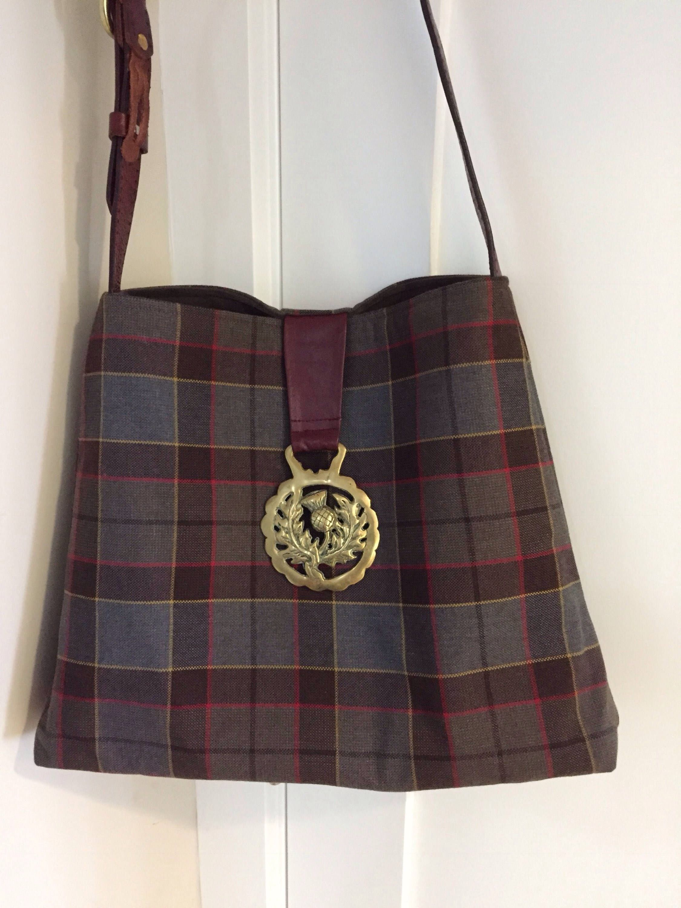 OUTLANDER Jamie Fraser Tartan Plaid Tote Bag Cross Body Shoulder Bag