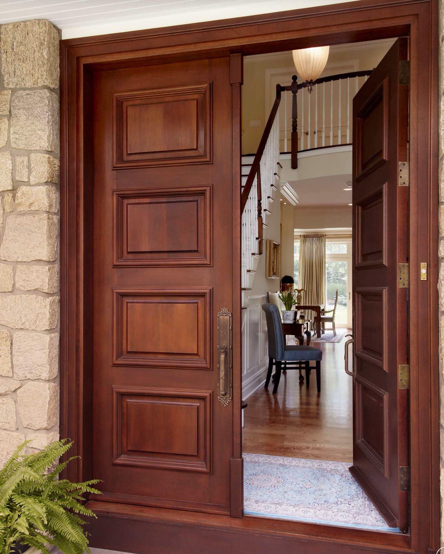 Front Door Paint Colors Want A Quick Makeover Paint Your Front Door A Different Color He Wooden Main Door Design Wooden Double Front Doors Main Door Design