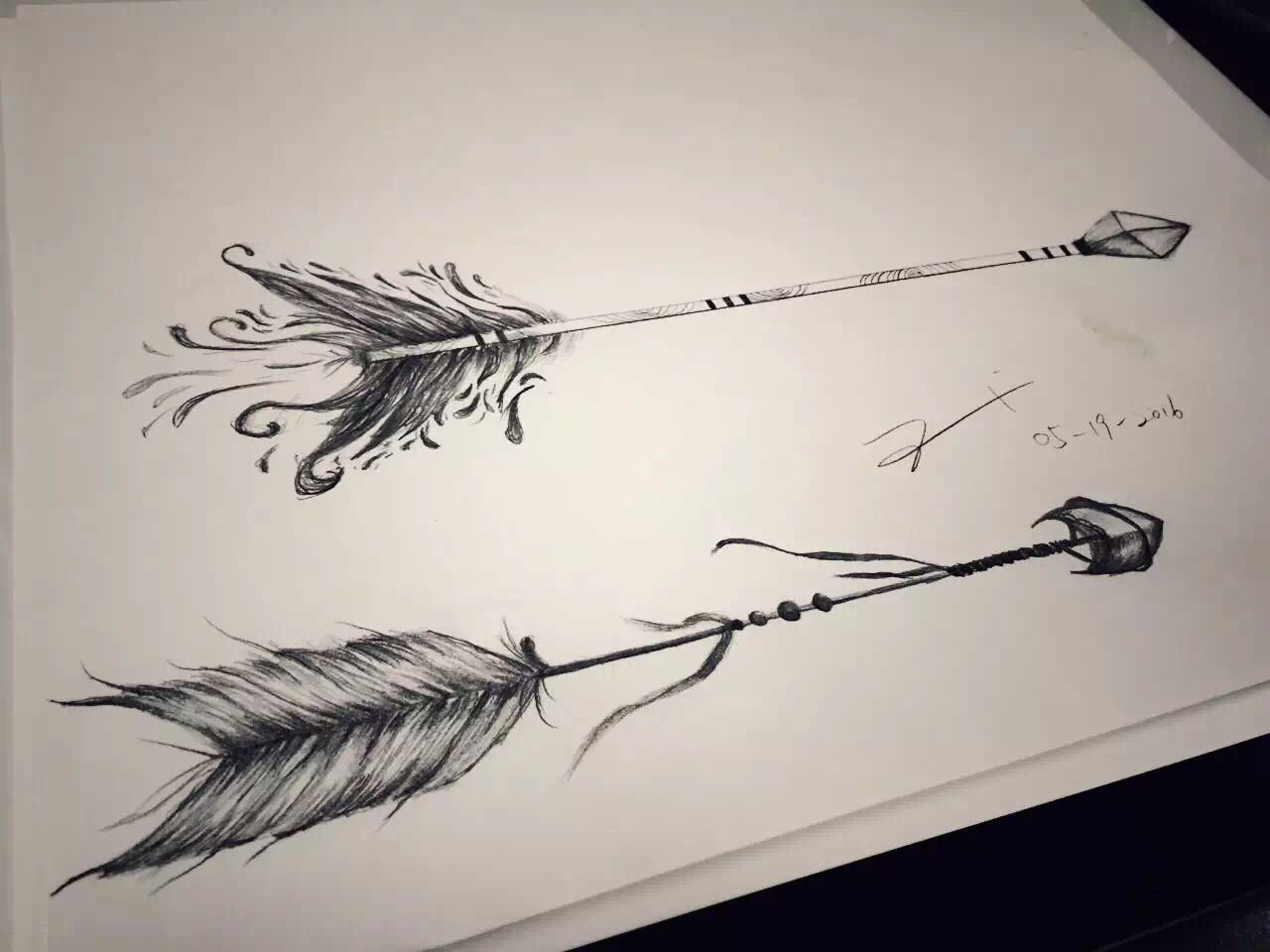 Arrow tattoo design by esther chiu could be a great couple tattoo