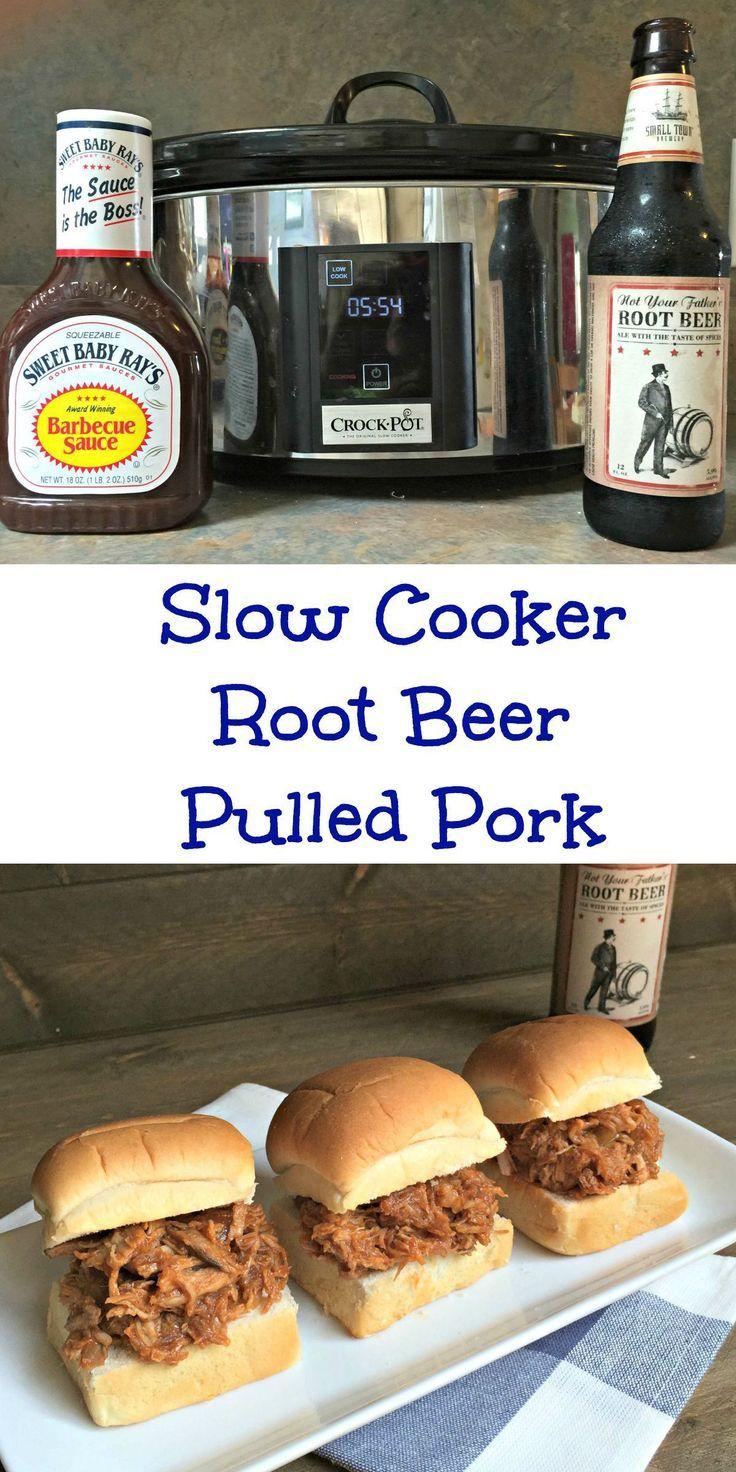 pulled pork crock pot root beer on high