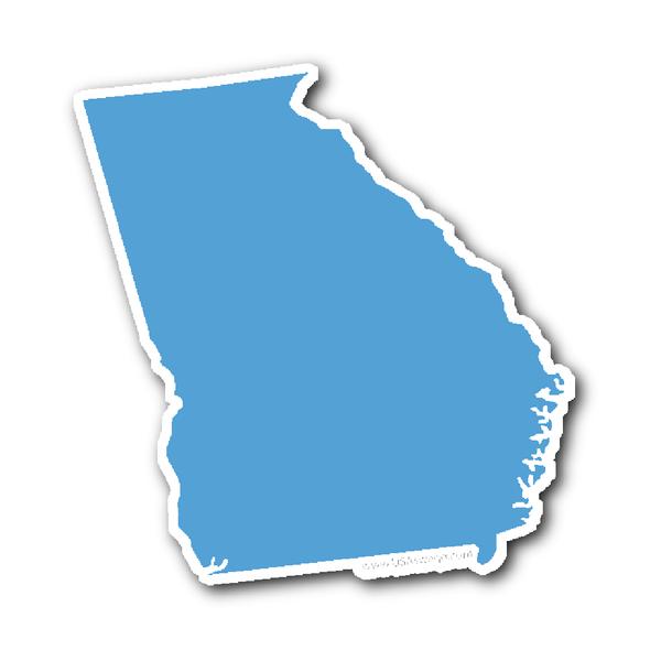 Georiga State Shape Sticker Outline Black State Shapes Shapes Outline