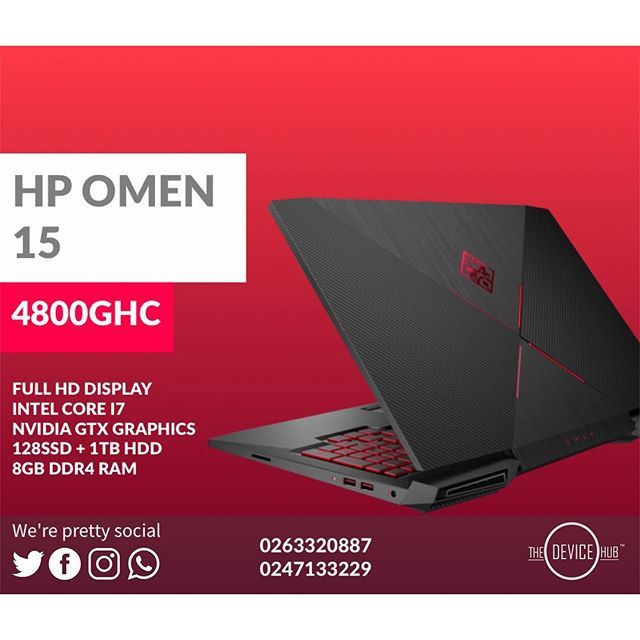 Hp Omen 15 128ssd 1tb Hdd Intel Core I7 7th Gen Nvidia Gtx Graphics