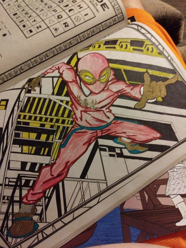 Coloring Page Spider Man Spiderman Marvel Marvel Universe