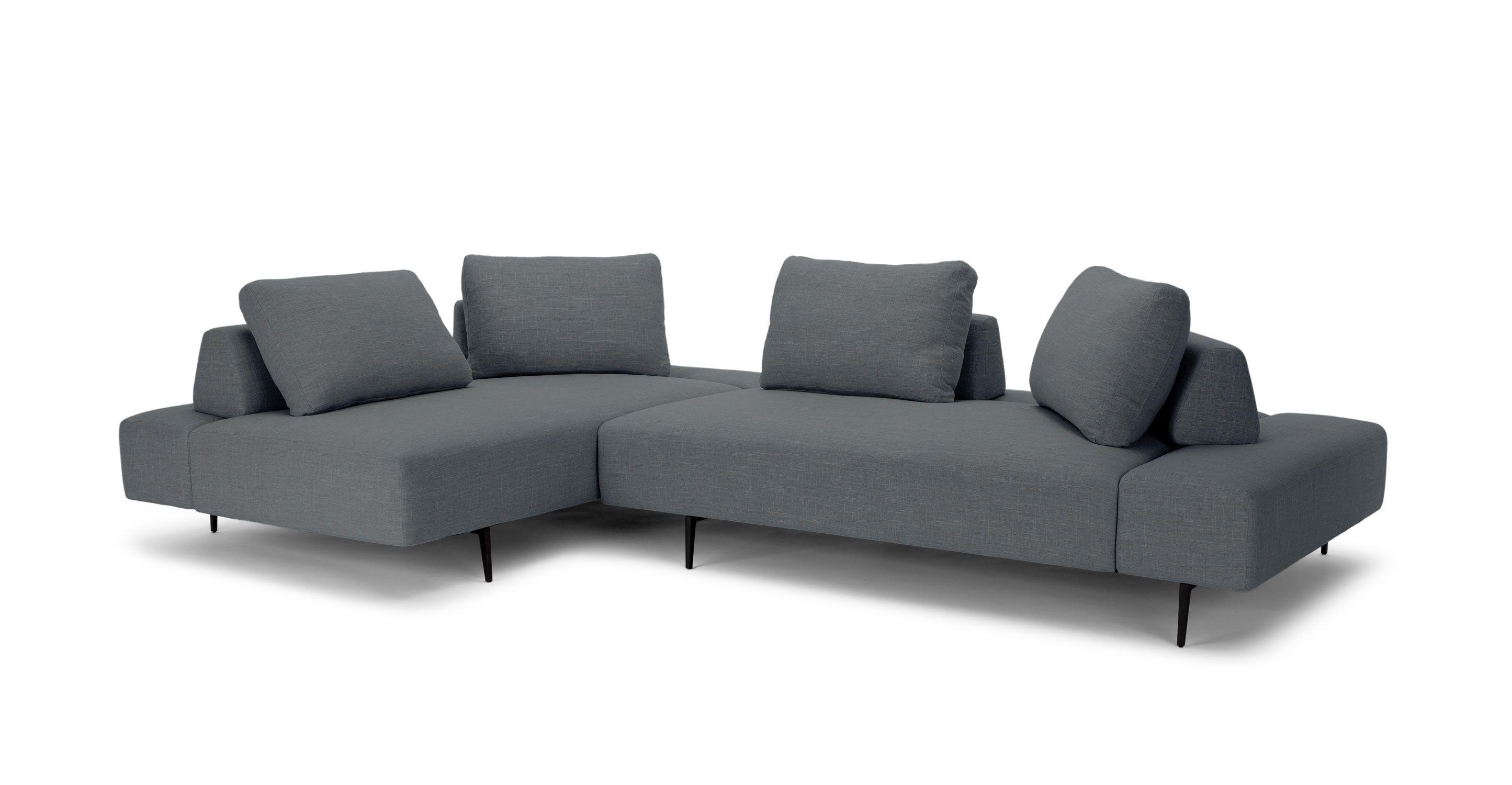 Grey Modern Sectional Upholstered Divan Modern Furniture