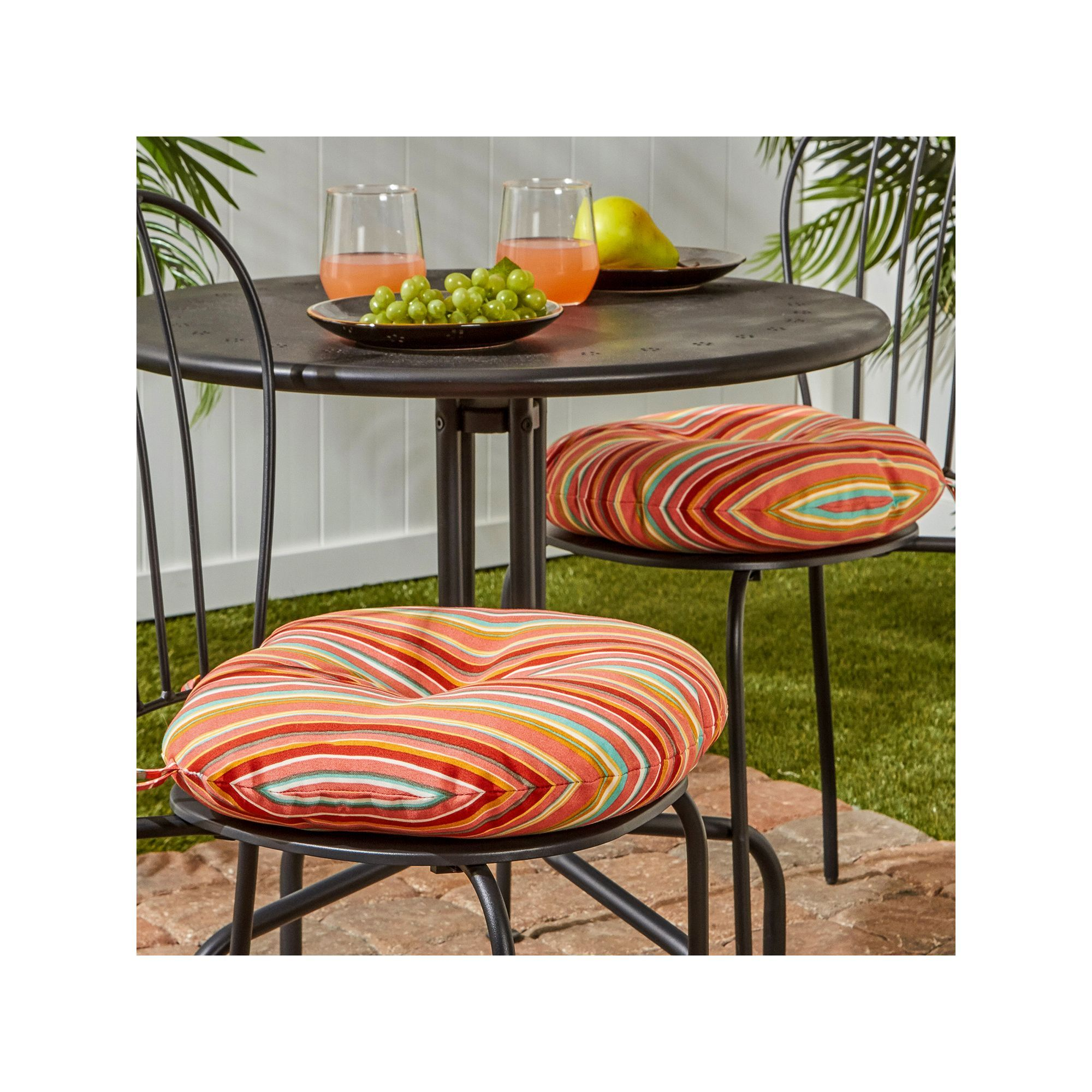 Greendale Home Fashions 2 Pack 15 In Round Outdoor Bistro Chair