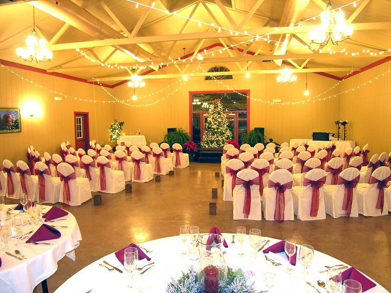 Outdoor Park Or Indoor Room For Wedding Ceremony: Ceremony/reception In The Same Room