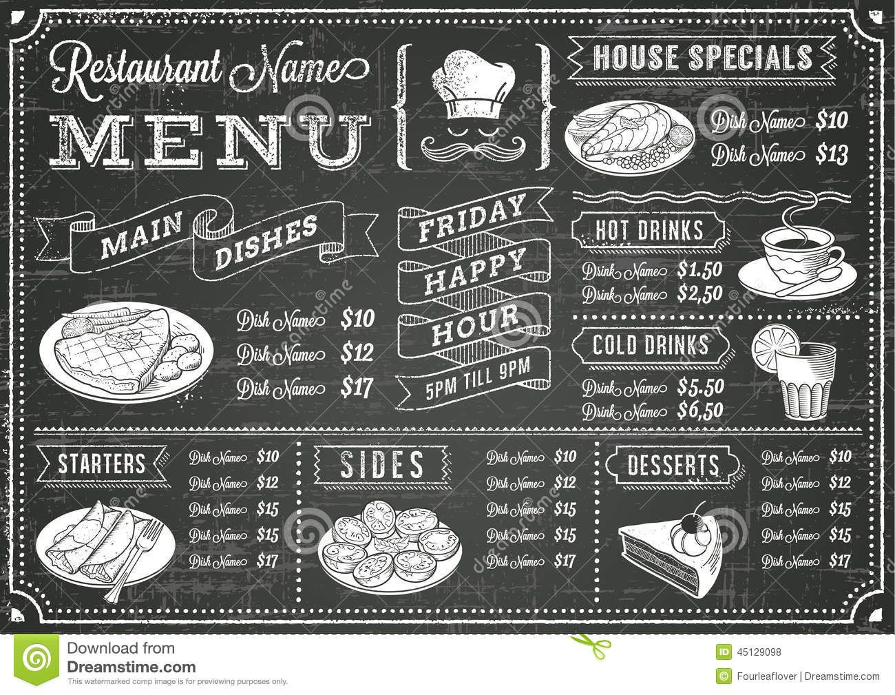 cafe chalkboard beverage menu ideas - Google Search ...