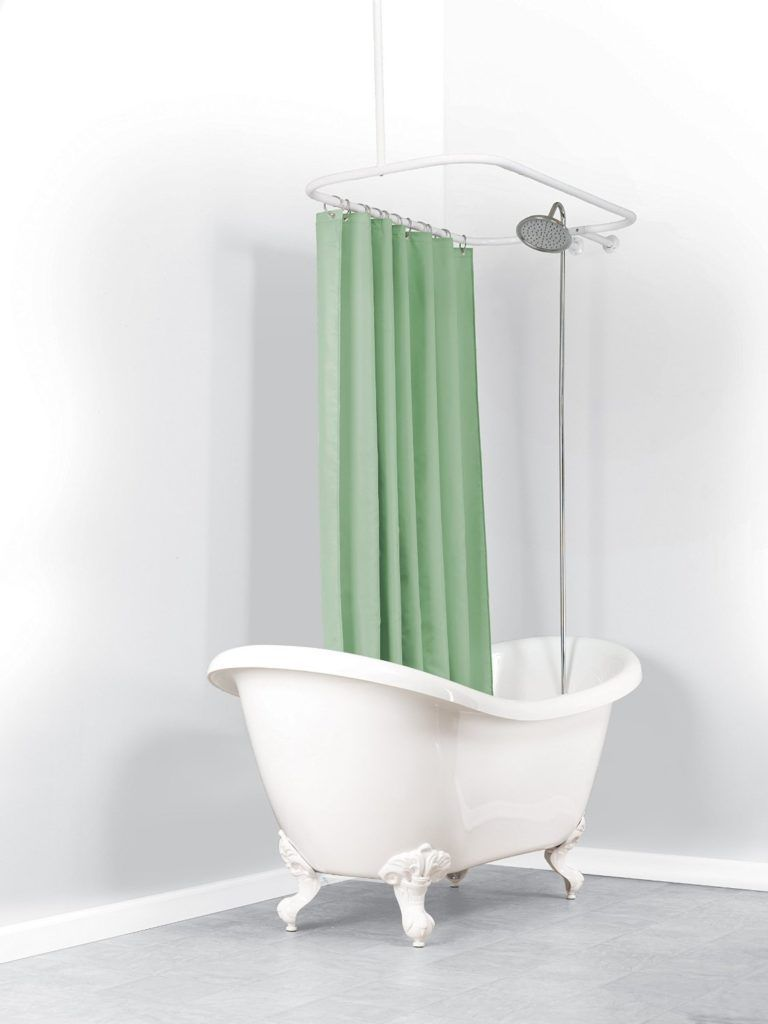 Length of shower curtain for clawfoot tub shower curtain