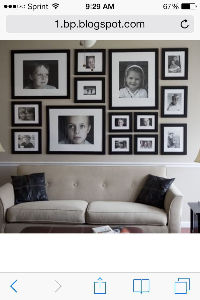 How To Make A Gallery Wall Just Like Mine Art Wall Pinterest