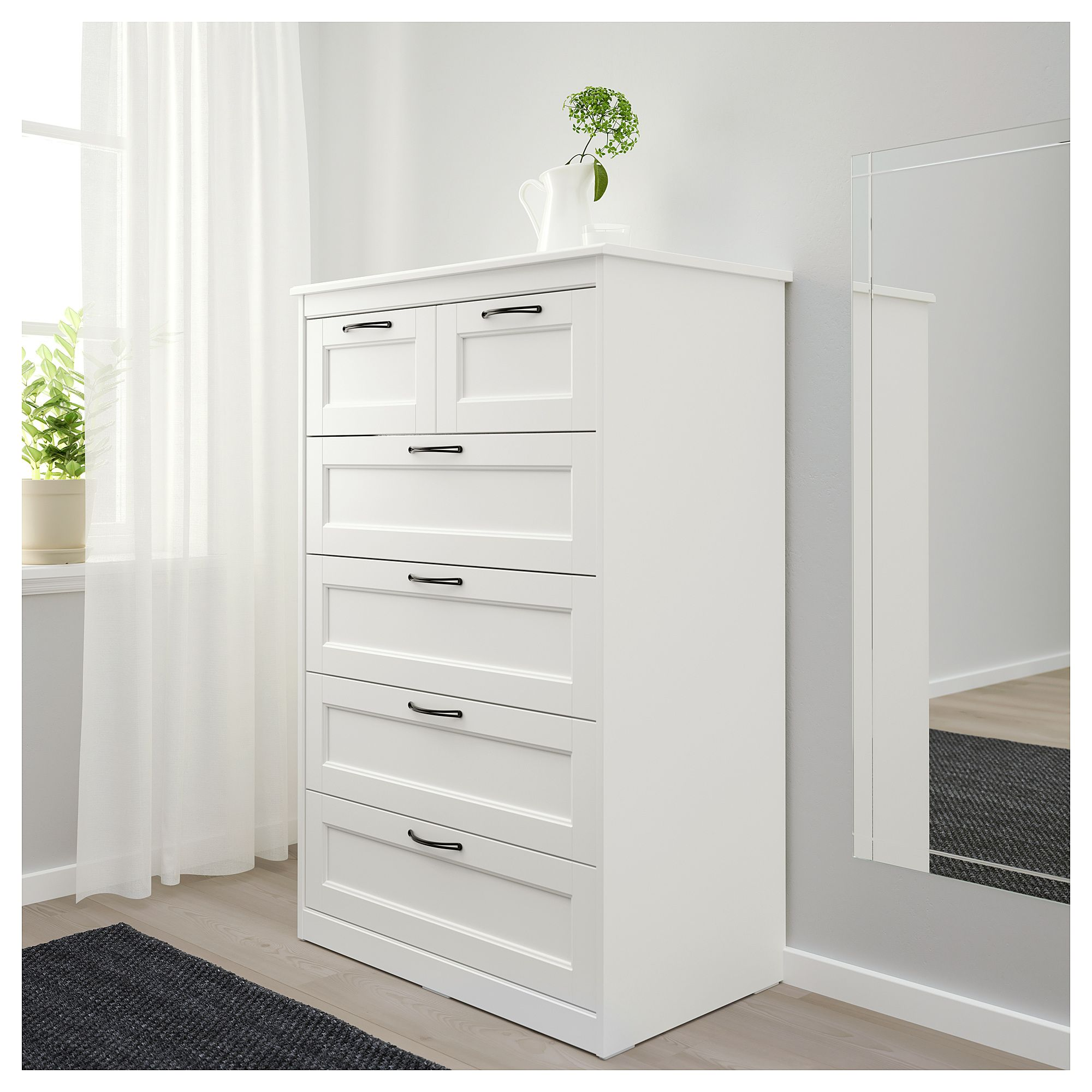 6-drawer chest, white, 32 1/4x49 5/8 \