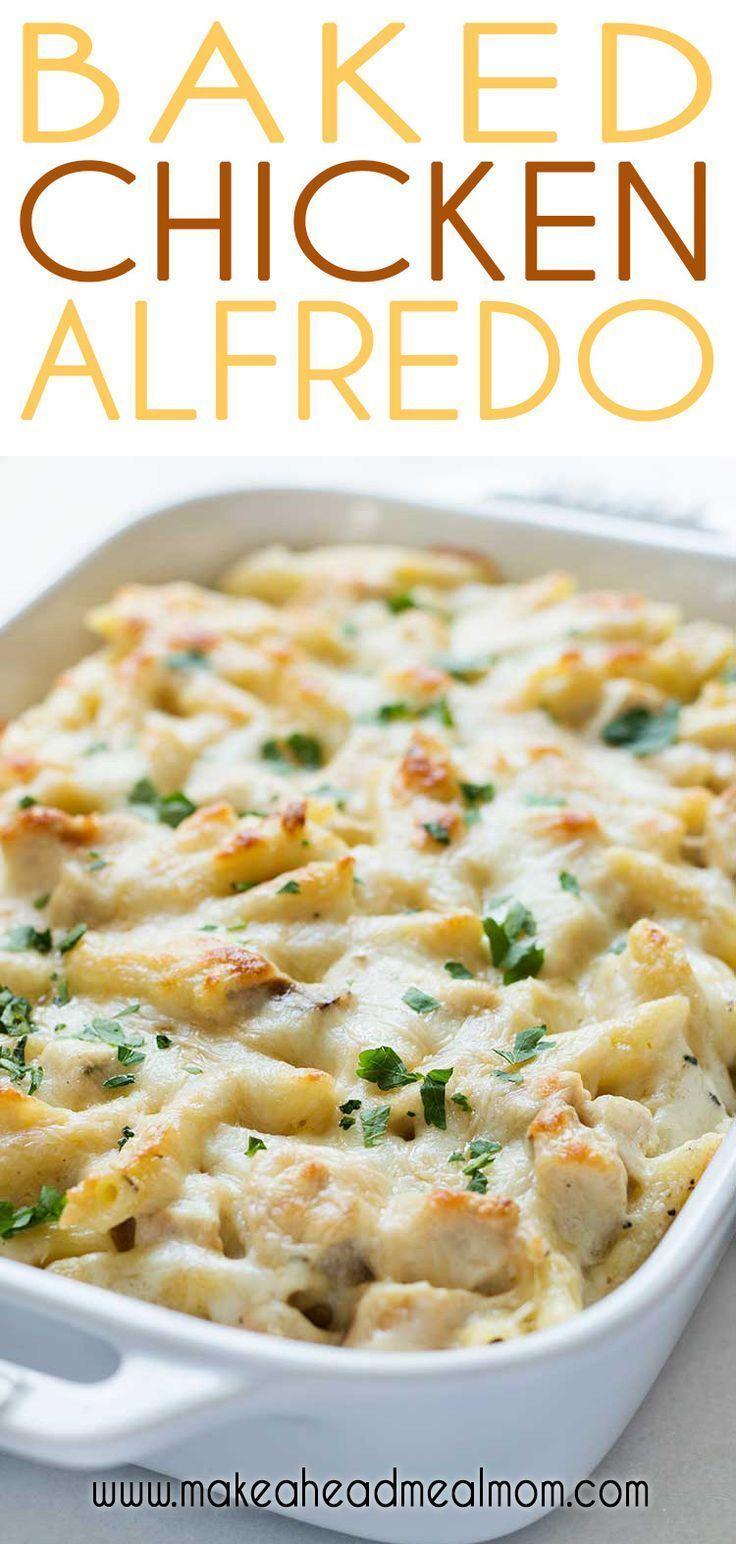 Chicken Alfredo Bake | Make-Ahead Meal Mom