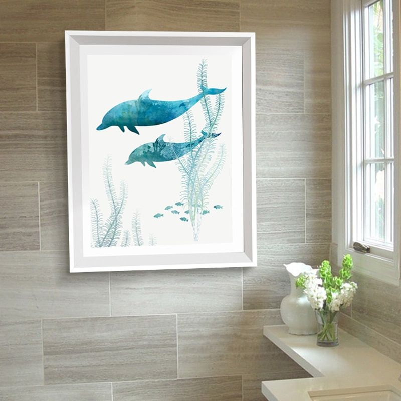 Modern Whale Prints Ocean Canvas Paintings Bathroom Posters And Printings Nordic Scandinavia Wall Art Pop Pictures Home Decor Wall Art Pictures Wall Art Canvas Painting Modern Art Prints
