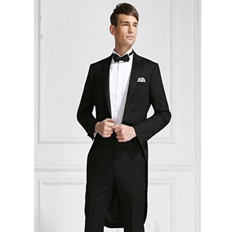 modern dress groom suit black mens tuxedo for wedding suits prom ...