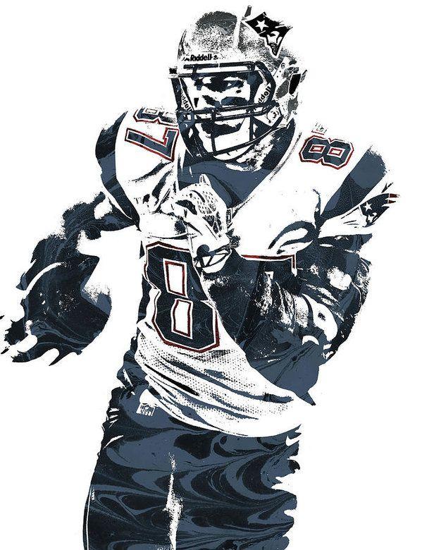 e7cddbed2 Rob Gronkowski New England Patriots Pixel Art 5 Art Print by Joe ...