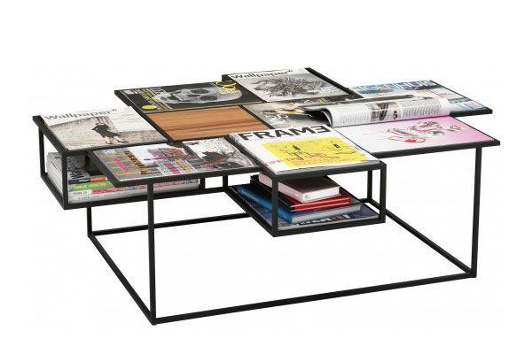 Roderick Vos diseñó una mesa de centro que cuenta con el espacio exacto para contener revistas. Las publicaciones preferidas se convierten e...