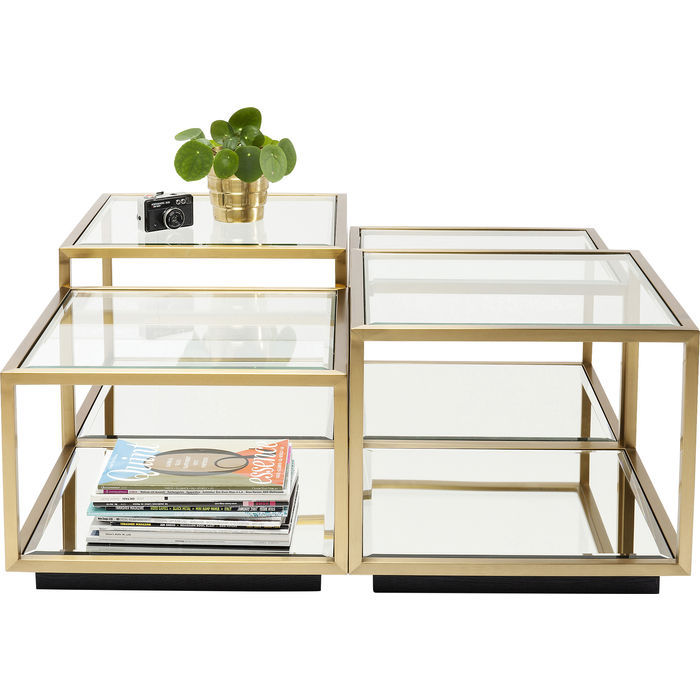 Coffee Table Luigi Gold 4 Set Kare Design Modern Centre Table Designs Coffee Table Table