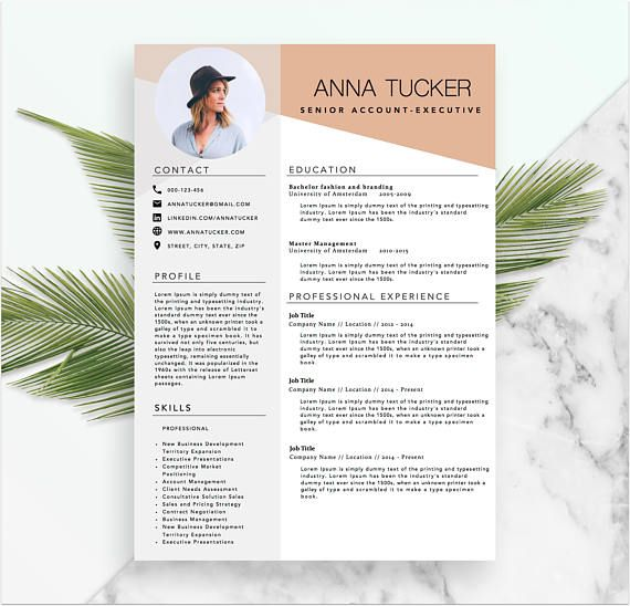 Modern Resume Template Cv Template Professional And Creative Resume Word Resume Instant Download Docx Modele De Cv Moderne Cv Moderne Modele Cv