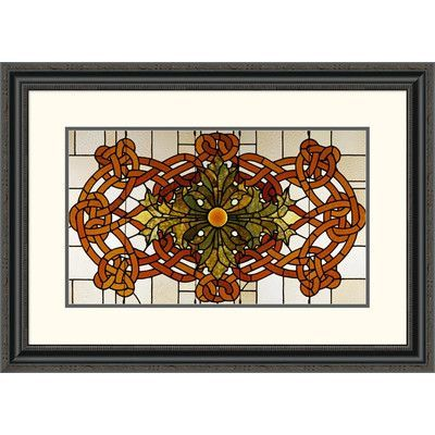 Global Gallery 'Skylight Panel for the Theatre of the Auditorium Building, Chicago, Illinois' by Sullivan Framed Painting Print Size: 2