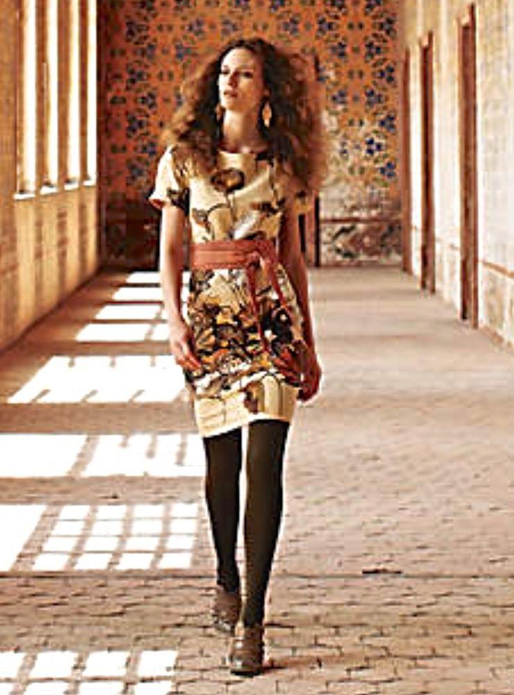 86ab7189f2f08 NWOT $168 Anthropologie Dress Floreat Snowy Egret Shift birds flowers tan 8  #Floreat #beltedshift #versatile