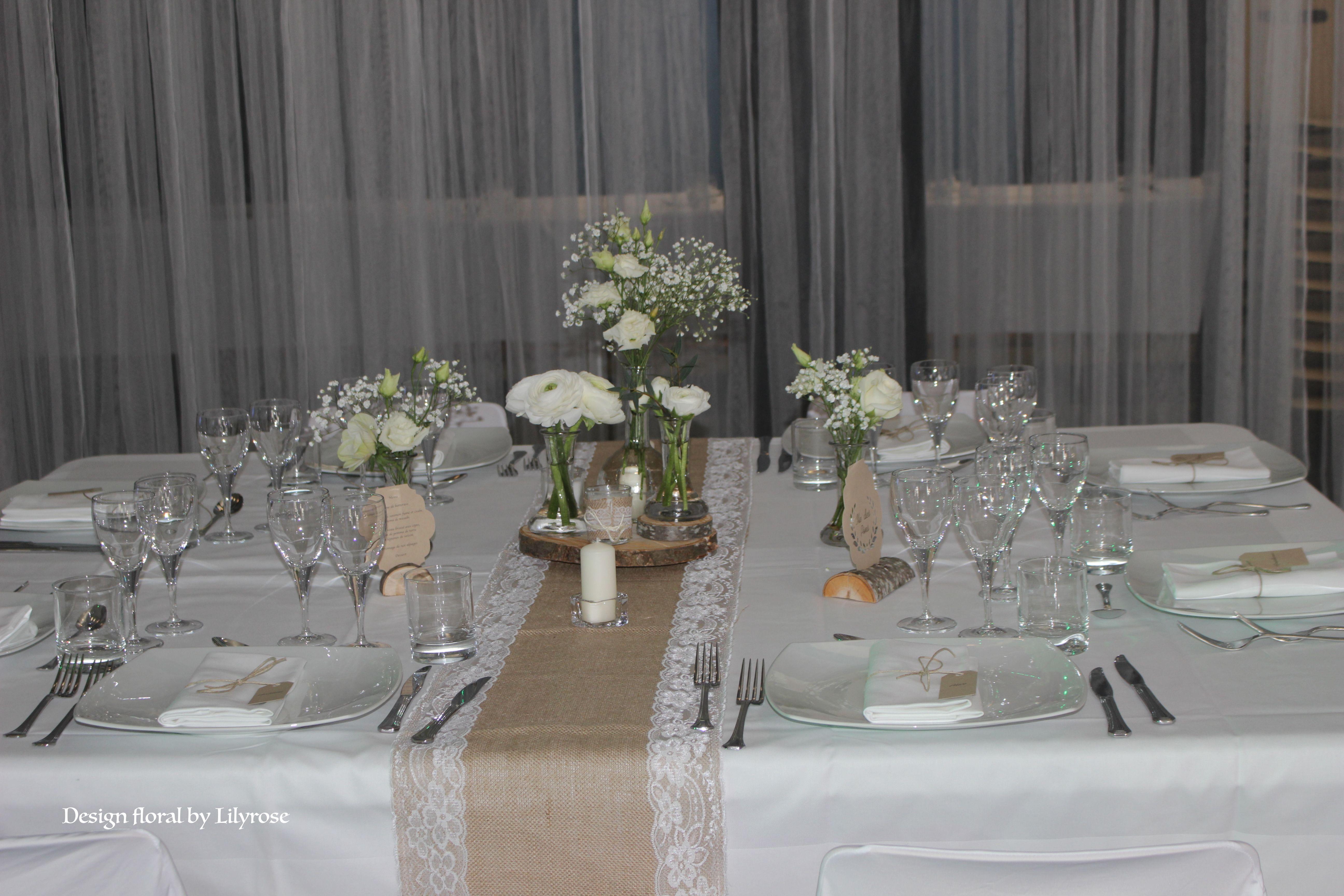 centre de table mariage champ tre bois craft jute. Black Bedroom Furniture Sets. Home Design Ideas