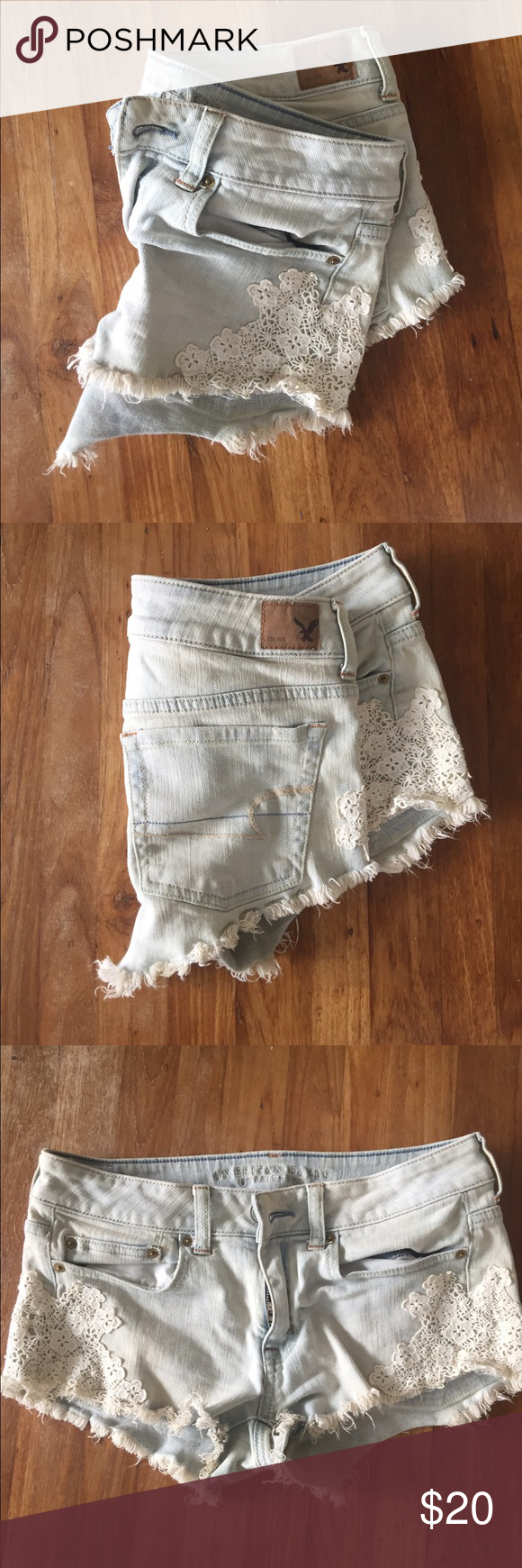 American eagle Jean shorts Brand new size 6. No problems not even worn. Bought and they were to big for me. American Eagle Outfitters Shorts Jean Shorts