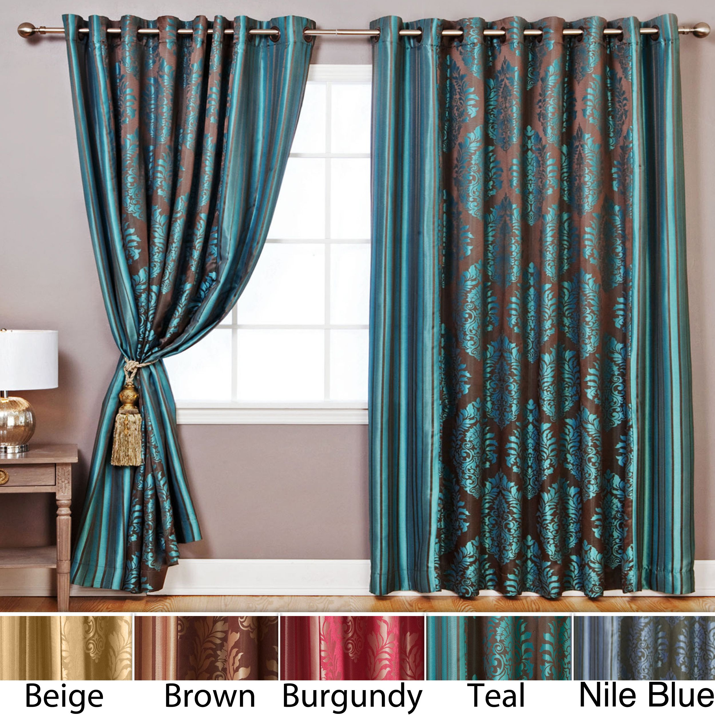 These luxurious 84inch wide curtains turn any space into an oasis