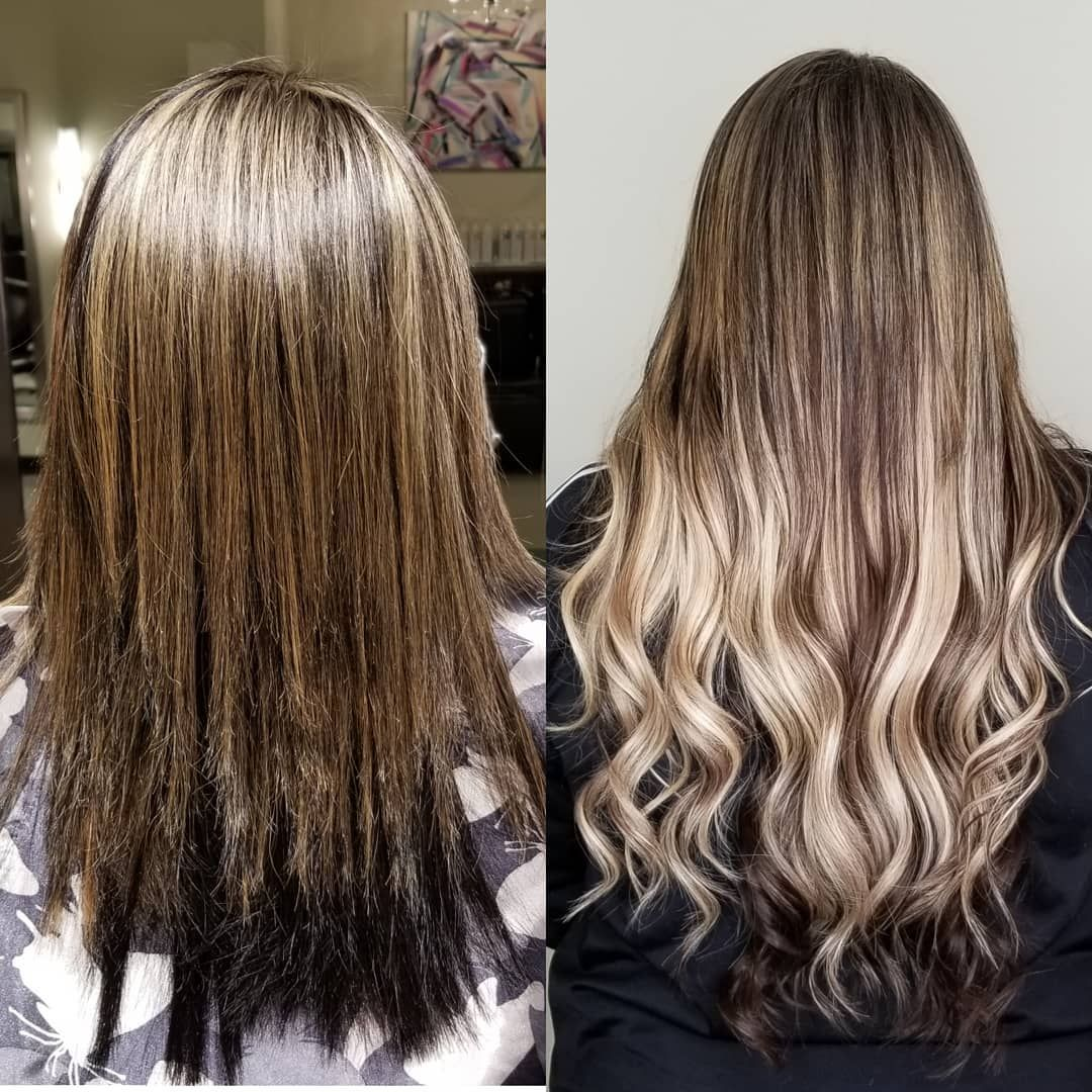 LOVE this fall extension makeover! 😍😍 Long hair styles