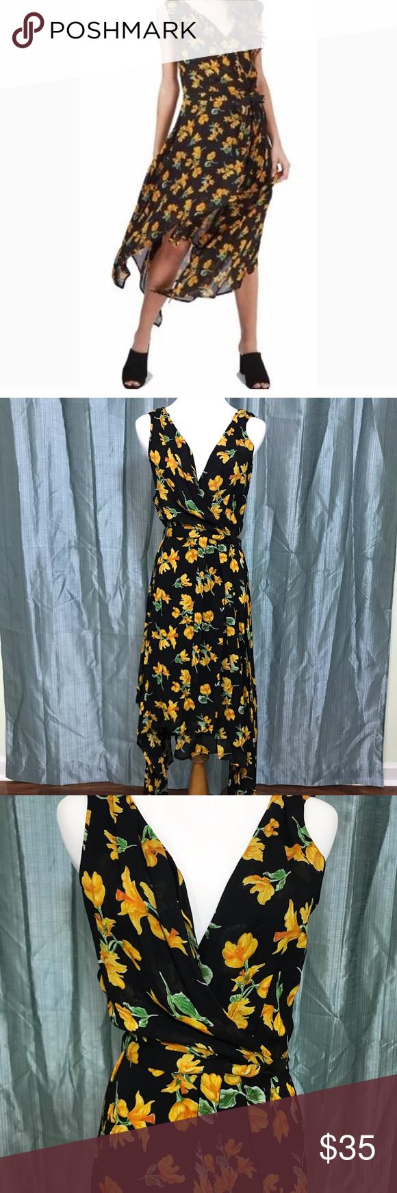 Topshop Marigold Wrap Dress Top Shop Dress Wrap Dress Sleeveless Wrap Dress [ 1740 x 580 Pixel ]