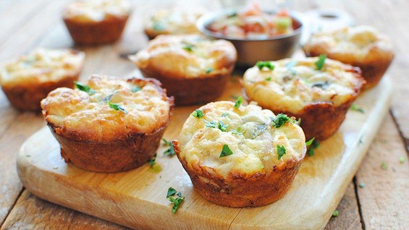 Куриные маффины с сыром — Кулинарная книга - рецепты с ...