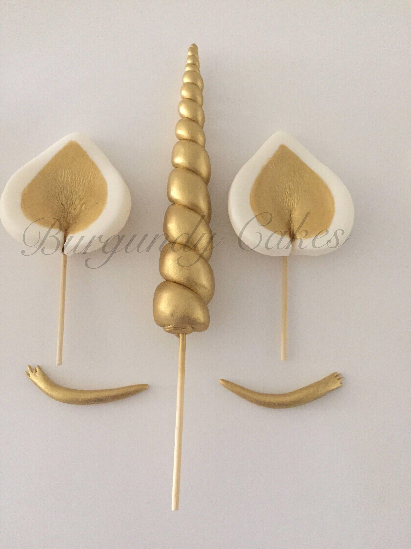 dies ist ein angebot f r fondant einhorn horn ohren und wimpern cake toppers diese sind mit. Black Bedroom Furniture Sets. Home Design Ideas