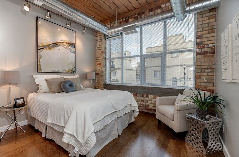 Loft Bedroom Design Ideas Modern Industrial Loft Bedroom Design Ideas With Exposed Duct Work