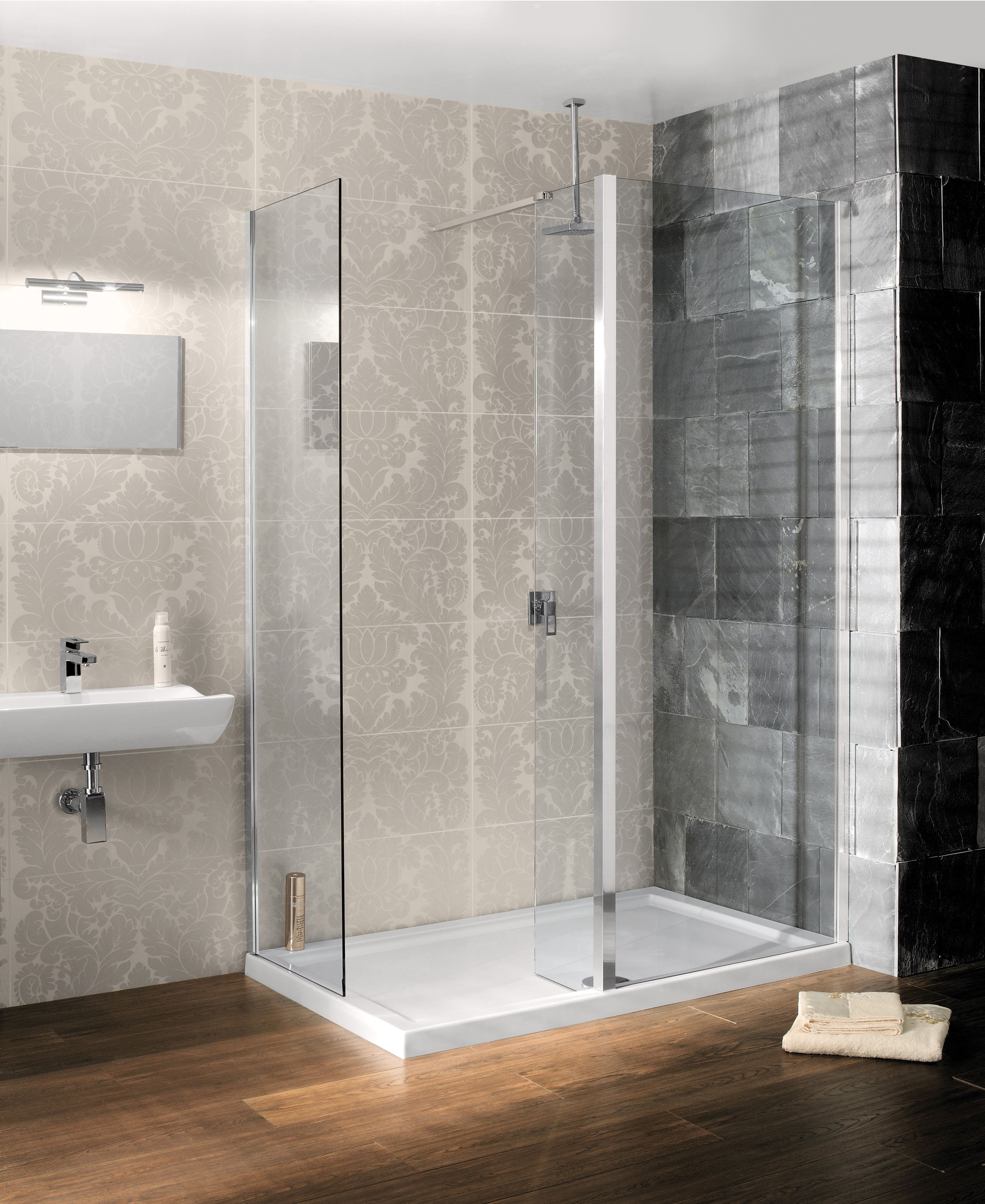Design Semi-Frameless Walk In Bathroom Shower Enclosure from ...