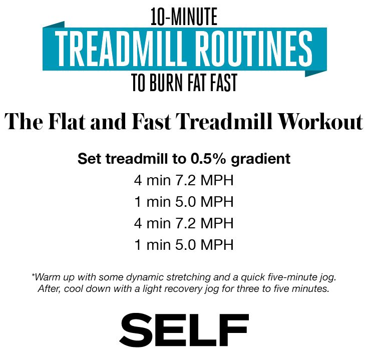 10-Minute Treadmill Exercises to Burn Fat Fast Treadmill routine - recovery plans