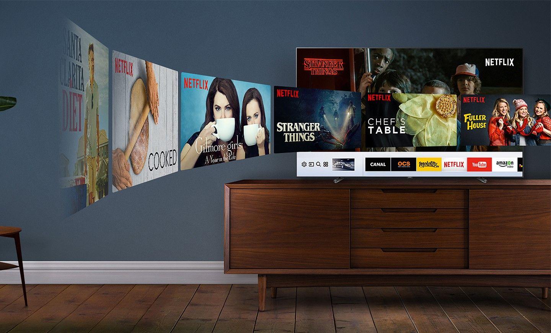 Qsmart L Acc S Vos Contenus N A Jamais T Aussi Simple Qled  # Salon Tv Moderne