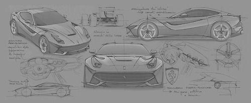 biroandclay: Ferrari F12 Berlinetta Design Sketches