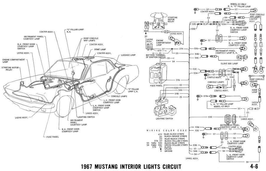 1967 mustang wiring diagrams 1998 chevy silverado trailer