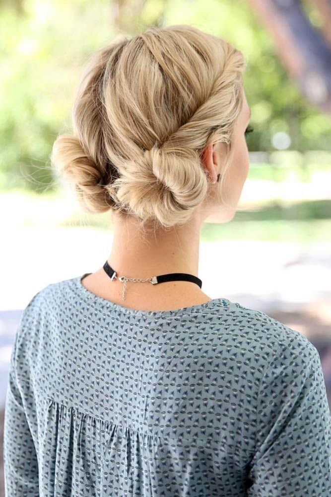 45 Easy Hairstyles For Spring Break #bunhairstyles