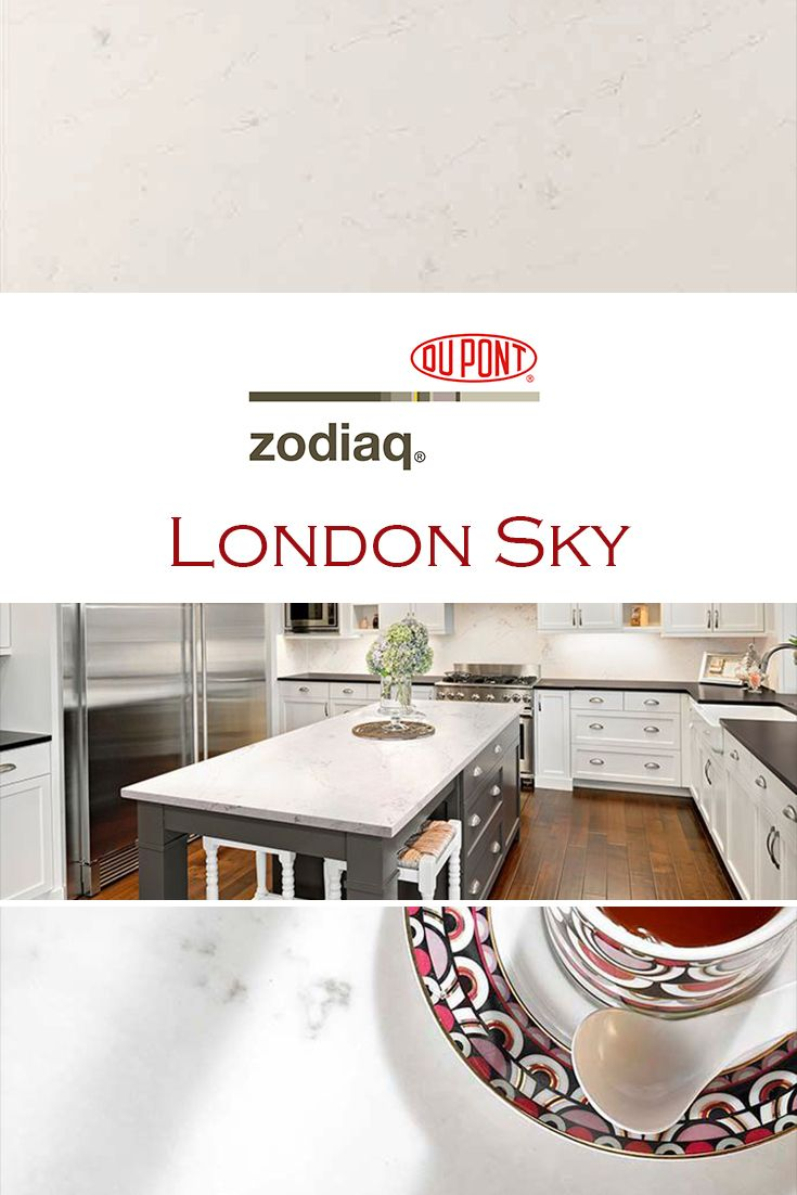 London Sky by Zodiaq is perfect for a kitchen quartz countertop ...