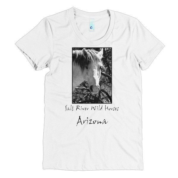 "Women's short sleeve t-shirt with ""Salt River Wild Horses, Arizona"" print"