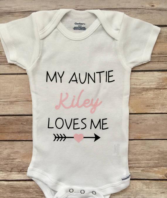4f744c18572fc My Aunt Loves Me Baby Onesie®, Newborn Onesie® ,Baby Shower Gift ...