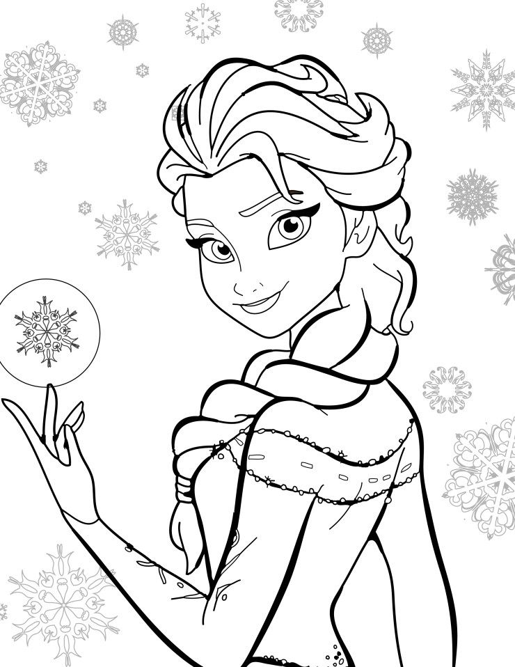 Coloriage de disney gratuit elsa frozen coloriage disney princess coloring pages disney - Coloriages princesses gratuits ...